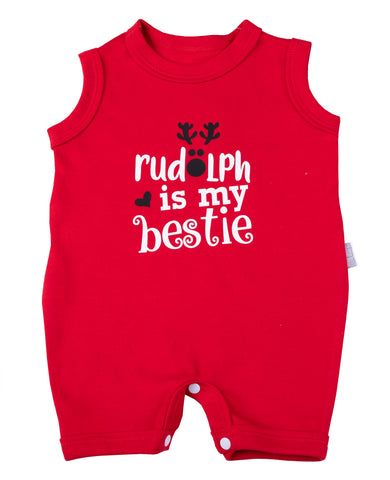 Christmas Baby Rudolph Romper