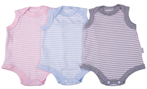 Striped Baby Sleeveless Onesie