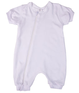 2-Pack Zip Summer Rompers Made From 100% Cotton
