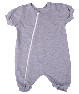 100% Cotton Infant Zip Summer Romper Babygro