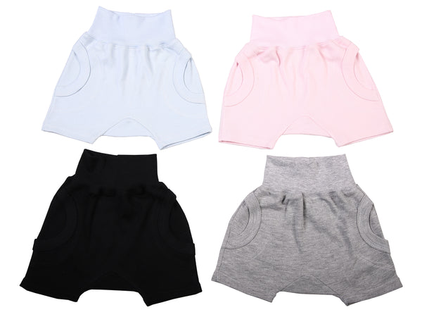 Blank Baby Slouch Shorts (2-Pack mixed colours) - Little Lumps