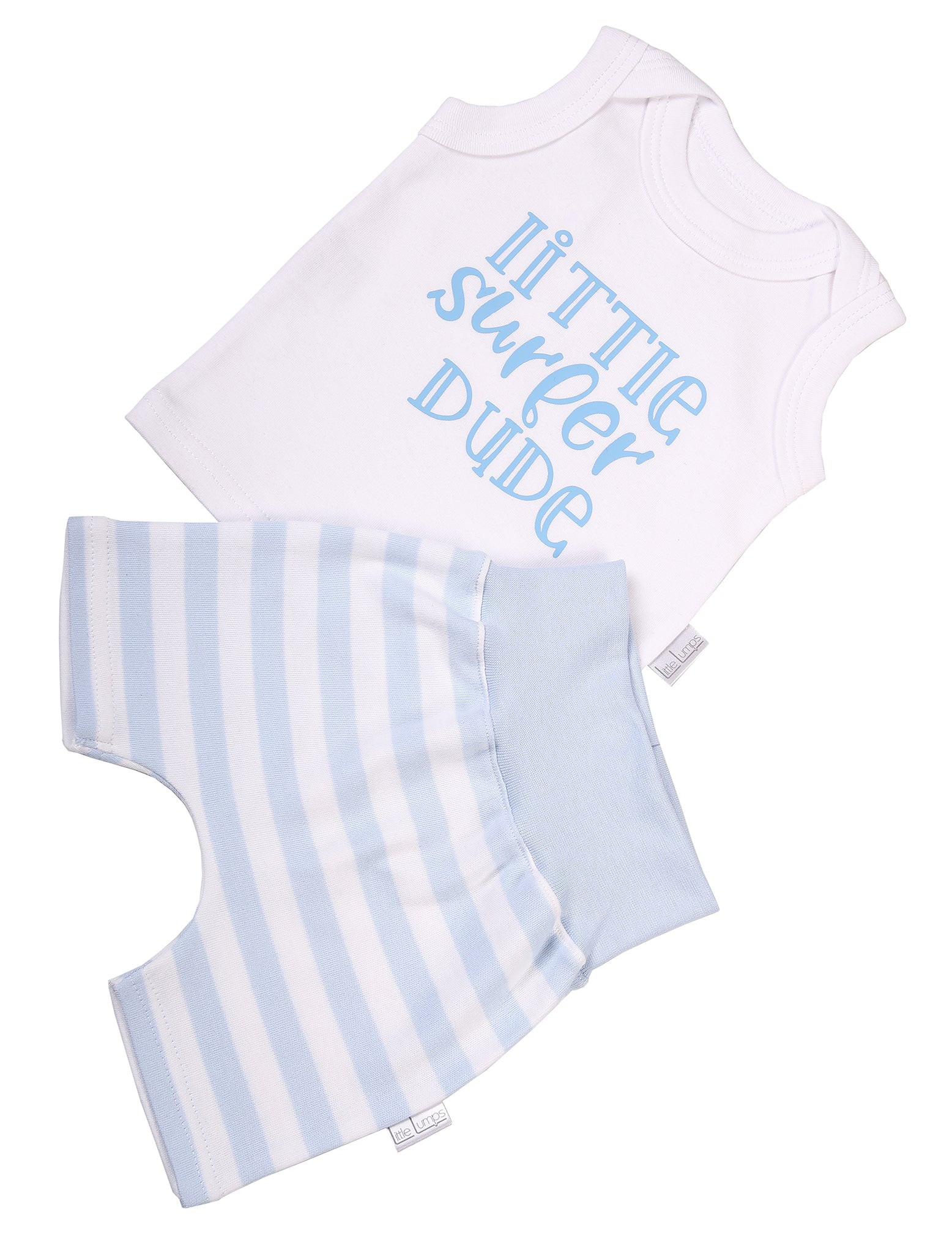 Baby Vest & Striped Shorts - Little Lumps