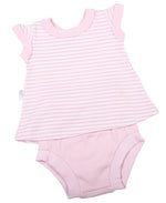 Load image into Gallery viewer, Baby V-Neck Dress & Panties Set - Little Lumps
