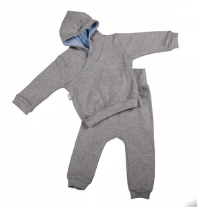 High Quality Grey Hooded Baby Tracksuit - Little Lumps Baby Clothing Online