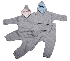 High Quality Grey Hooded Baby Tracksuit - Little Lumps