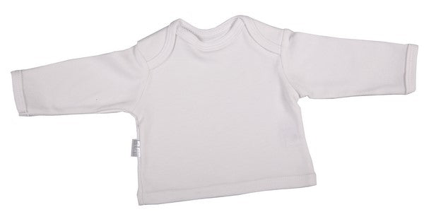 Blank Long-Sleeved Baby T-Shirt With Envelope Neckline (6-Pack) - Little Lumps