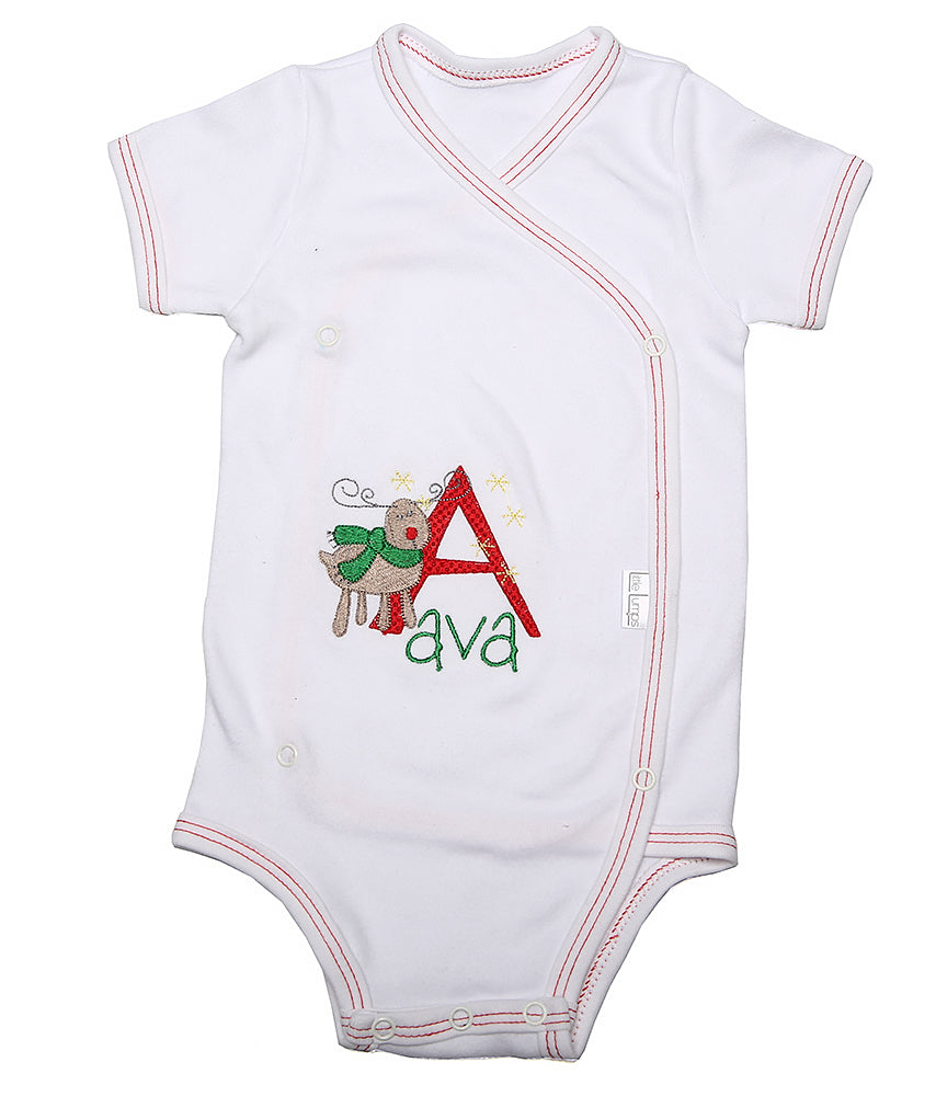 Christmas Baby Personalised Onesie - Little Lumps