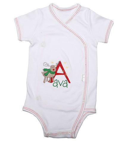 Christmas Baby Personalised Onesie - Little Lumps Baby Clothing Online