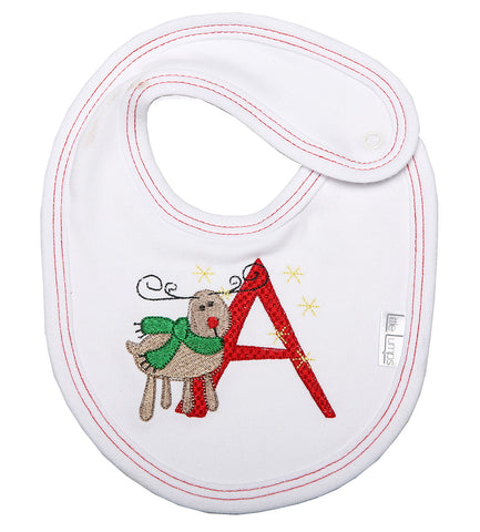 Christmas Baby Alphabet Bib - Little Lumps Baby Clothing Online
