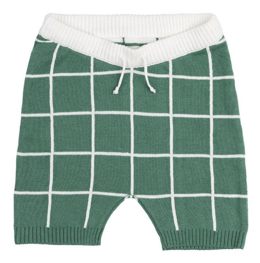 SPRING GREEN GRID SHORTS