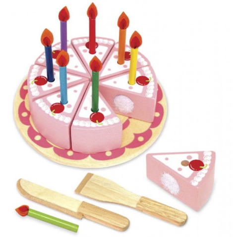 WOODEN PARTY CAKE SET