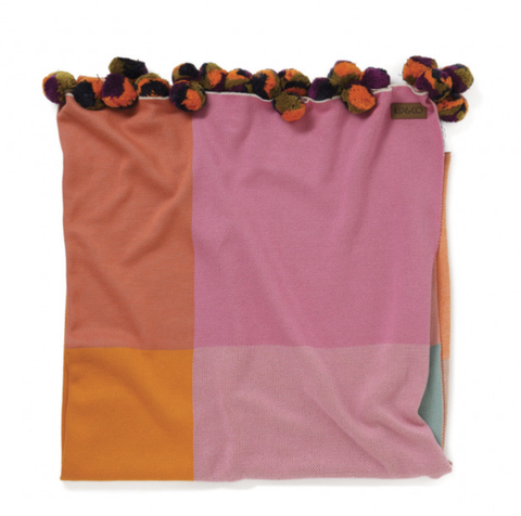 Rubix Cube Orange Cotton Blanket