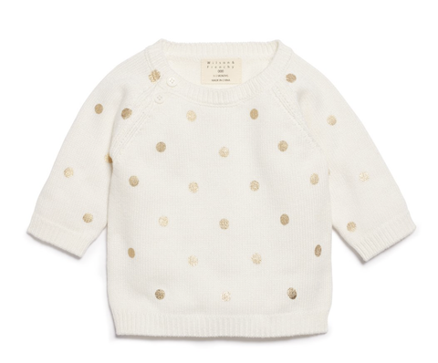 LITTLE POLKADOT KNITTED JUMPER