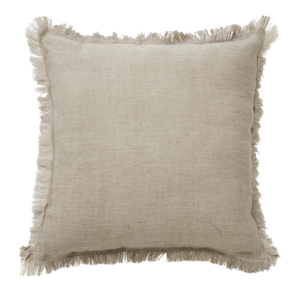 MONACO FRINGE CUSHION NATURAL