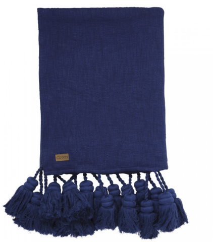 DEEP OCEAN TASSEL THROW