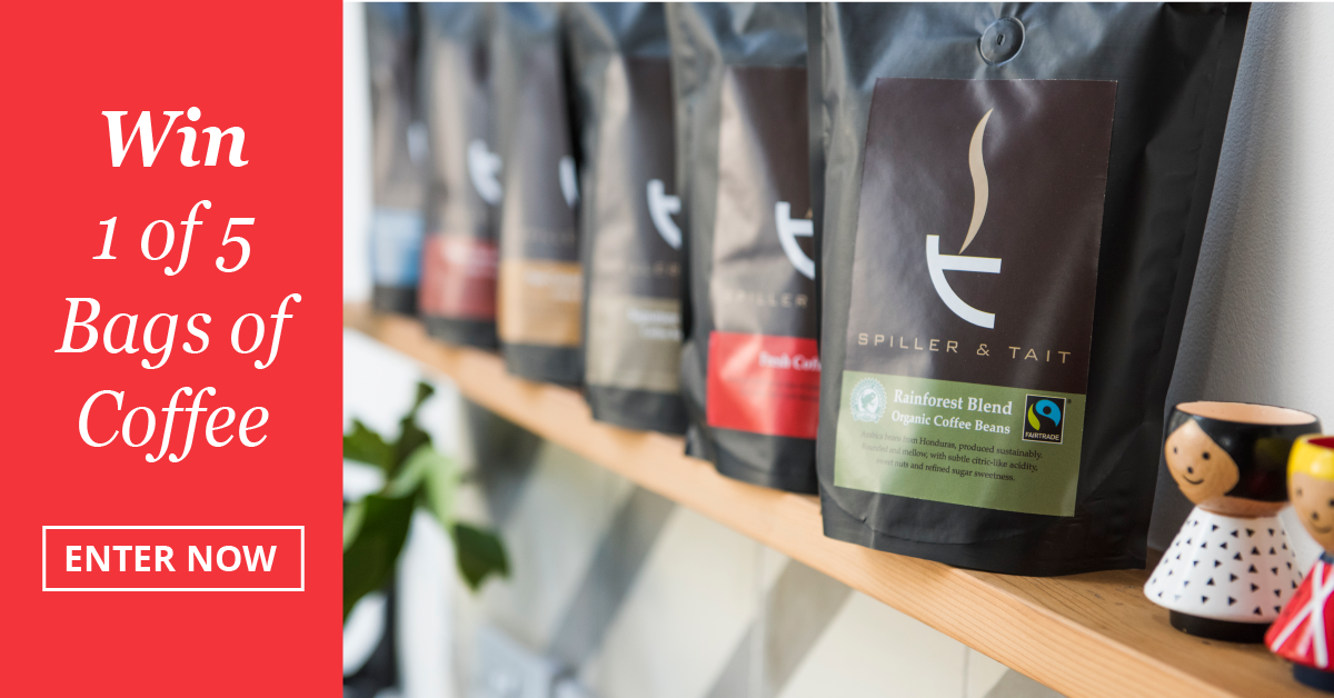 Win one of 5 bags of Spiller & Tait's Signature Blend Coffee