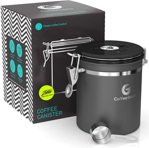 Stainless Steel Storage Canister & Scoop - by Coffee Gator