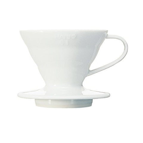 Hario V60 Dripper Coffee Maker (Ceramic/White VDC-01)