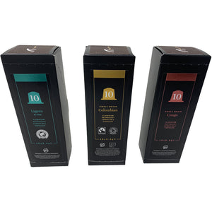 3x Multi-Pack Nespresso® Compatible Coffee Capsules