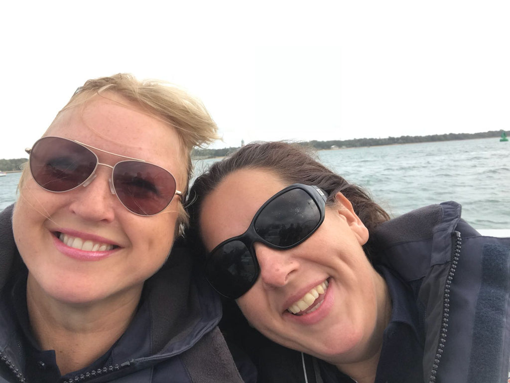 Team mates for the Ladies Cup regatta at the yachtmarket.com Southampton Boat Show 2018, with Liz and Fitz