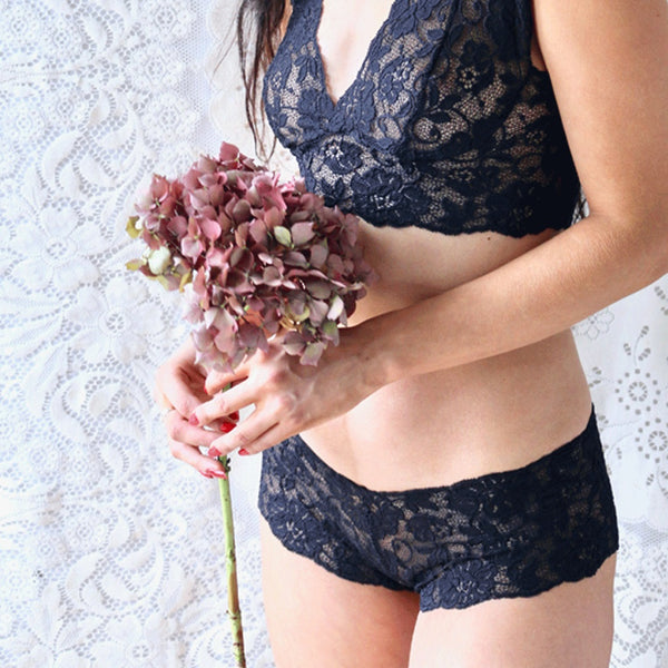 bralette and french knickers