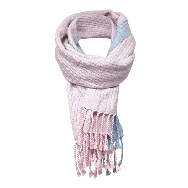 pink cashmere and merino scarf