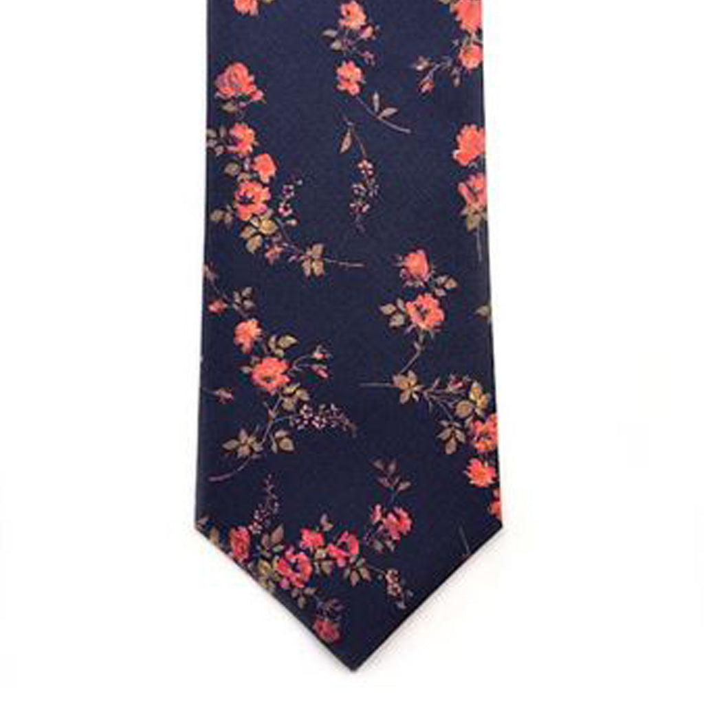 Handmade Liberty print floral cotton tie from Kate Temple. Available from The Mantique Winchester