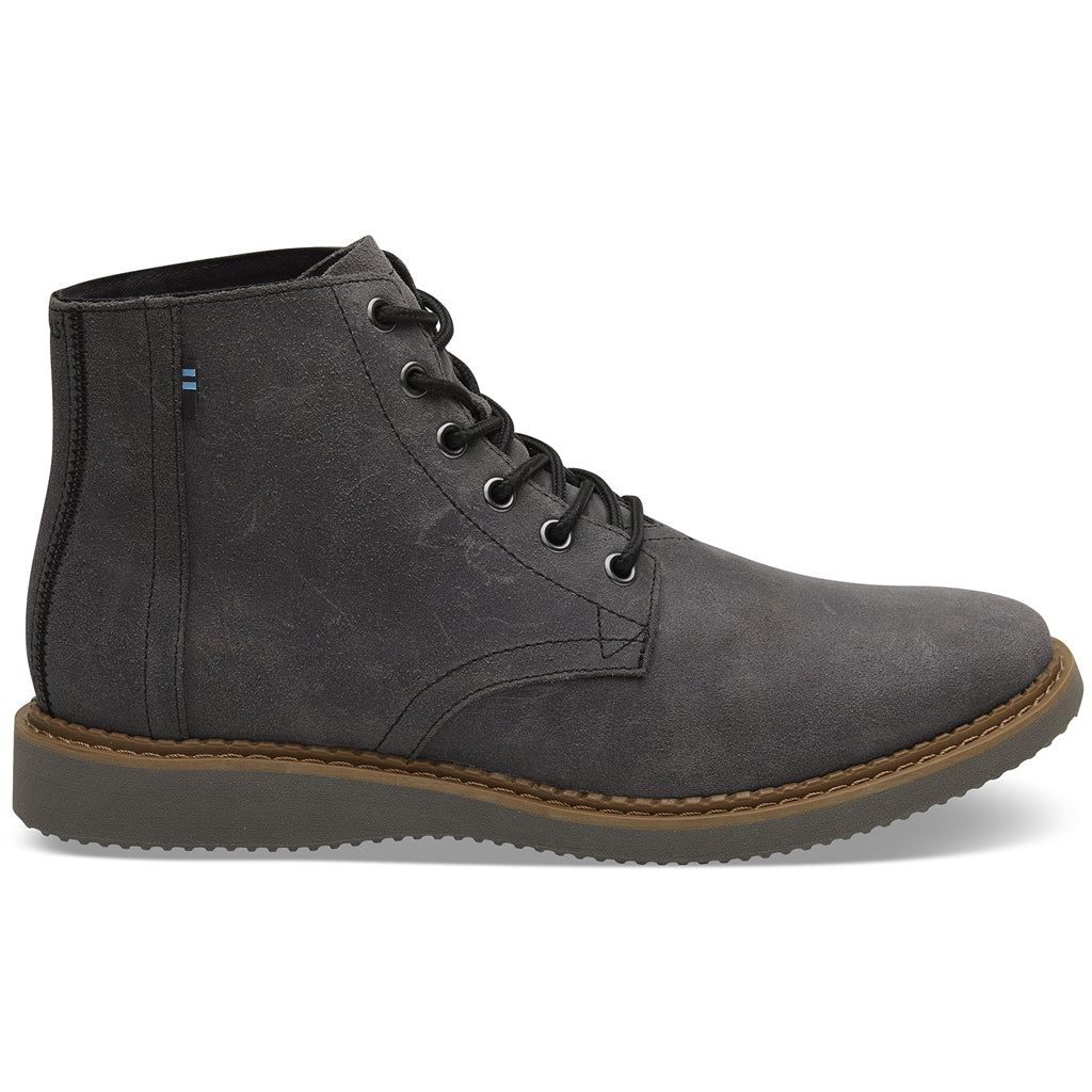 Men's Black Leather Porter Boots from TOMS available from The Mantique Winchester