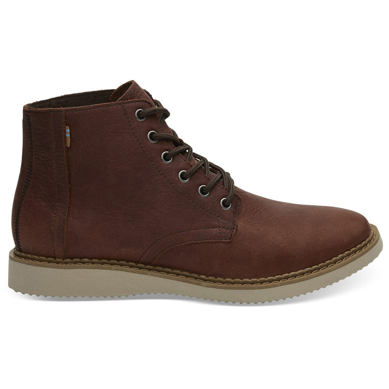 Men's Brown Leather Porter Boots from TOMS. Available at The Mantique Winchester