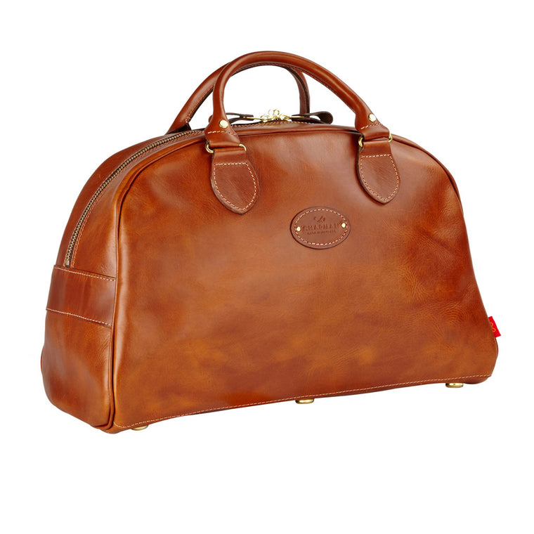 Men's Reiver 18 full leather holdall from Chapman Bags. British designed and made, available in The Mantique Winchester