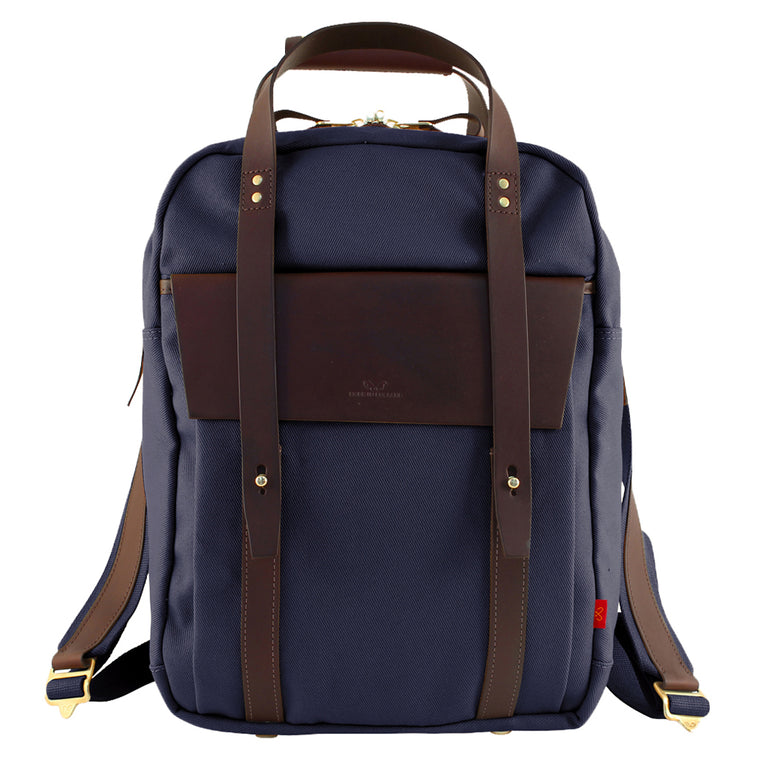 Men's Ribble canvas backpack from Chapman Bags. British designed and made in Carlisle. Available at The Mantique Winchester