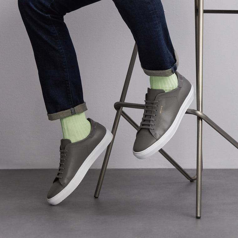 Simply Sartorial Light Green fine knit cotton socks from London Sock Company, available at The Mantique Winchester