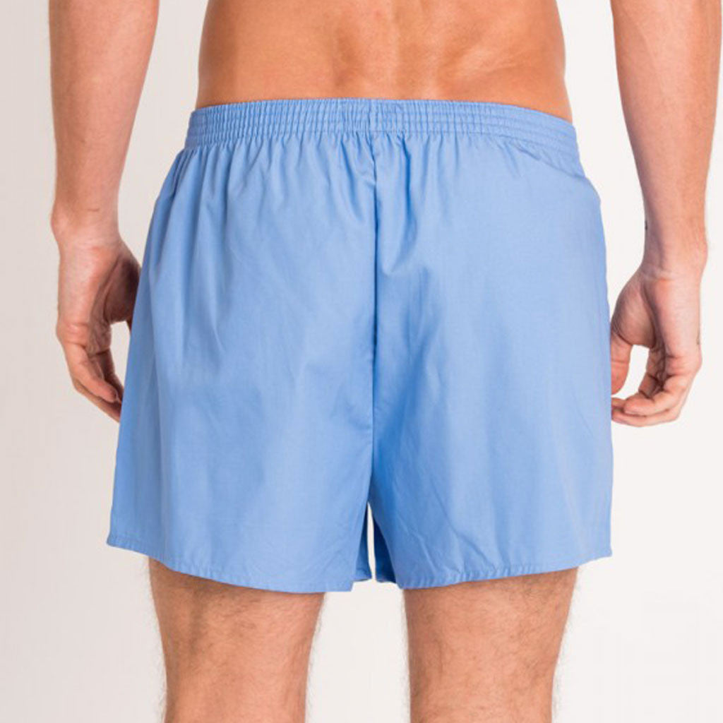 British Boxers Blue Mid Blue Boxer Shorts from The Mantique, Winchester