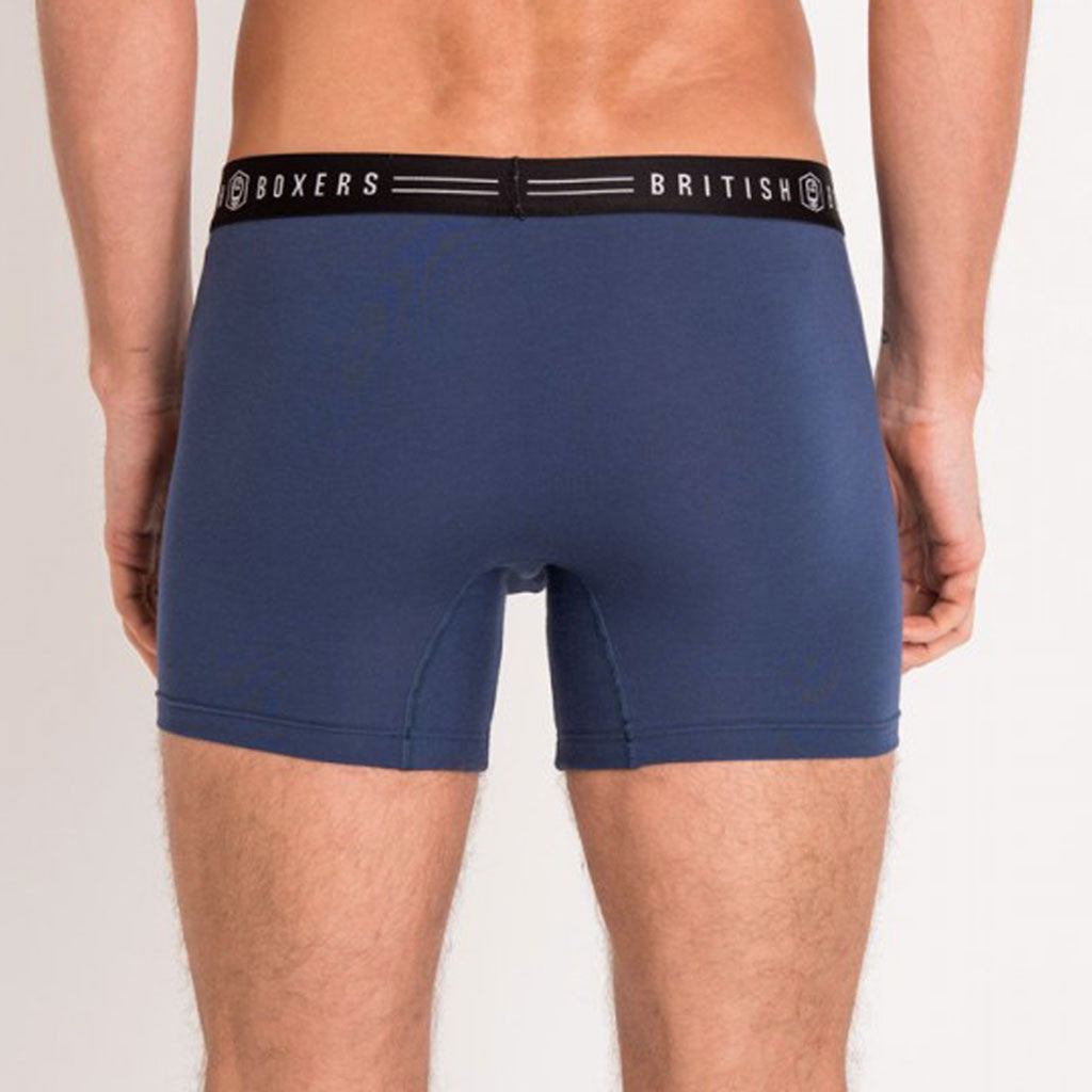 British Boxers Denim Blue Stretch Trunks from The Mantique, Winchester