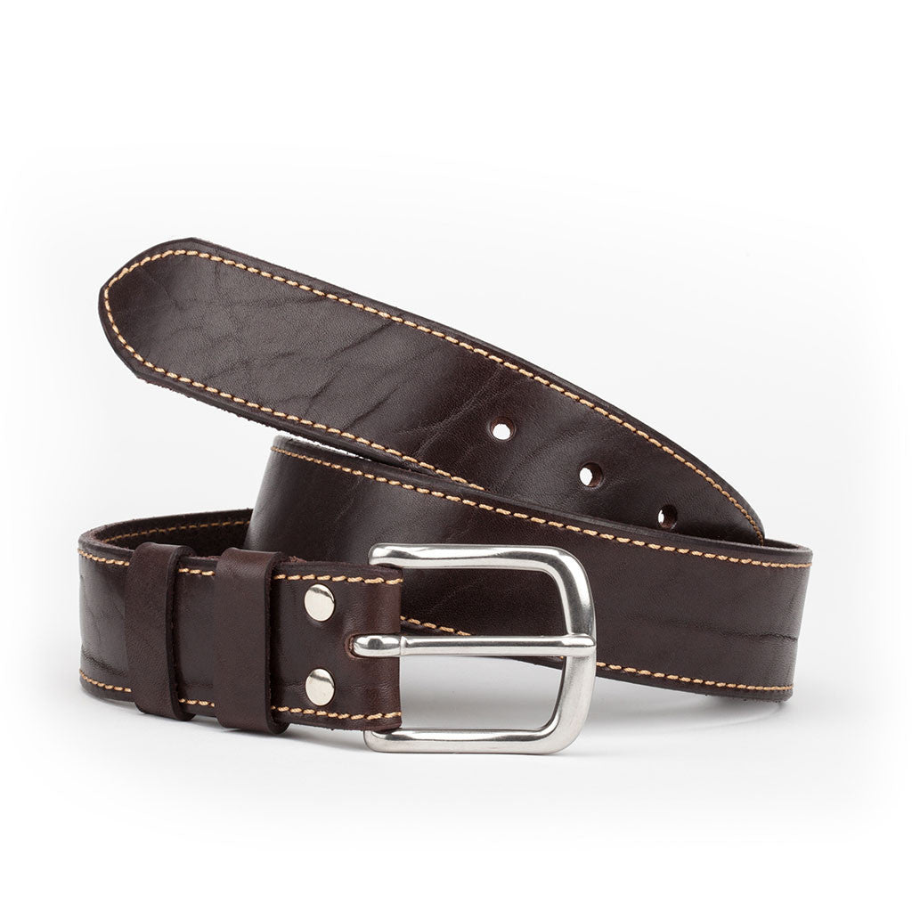Dartmouth Leather Belt by Tanner Bates from The Mantique, Winchester