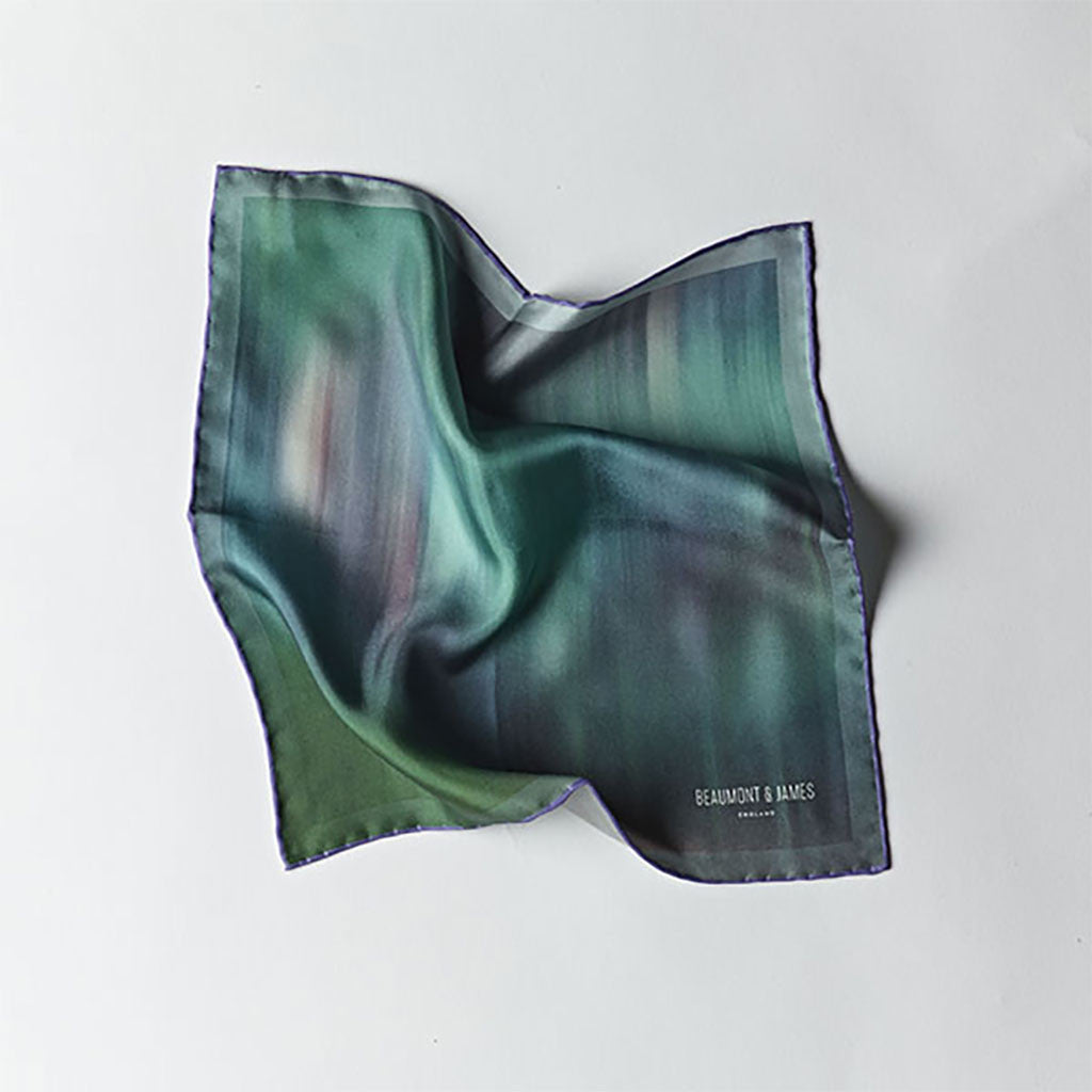 Green / Purple Ashwood Pocket Square from The Mantique, Winchester