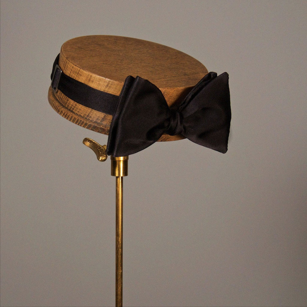 James Black Silk Bow Tie from The Mantique, Winchester