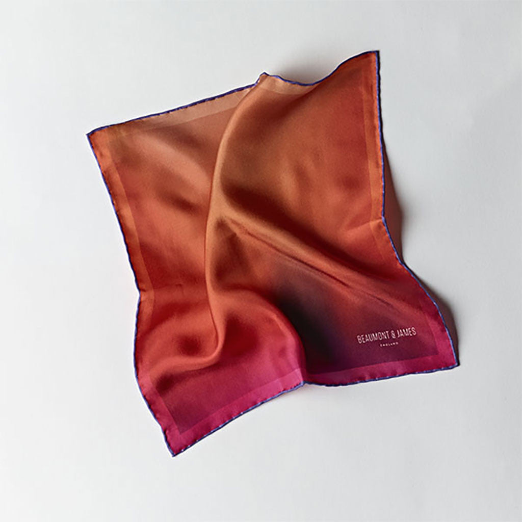 Orange / Purple Pocket Square from The Mantique, Winchester