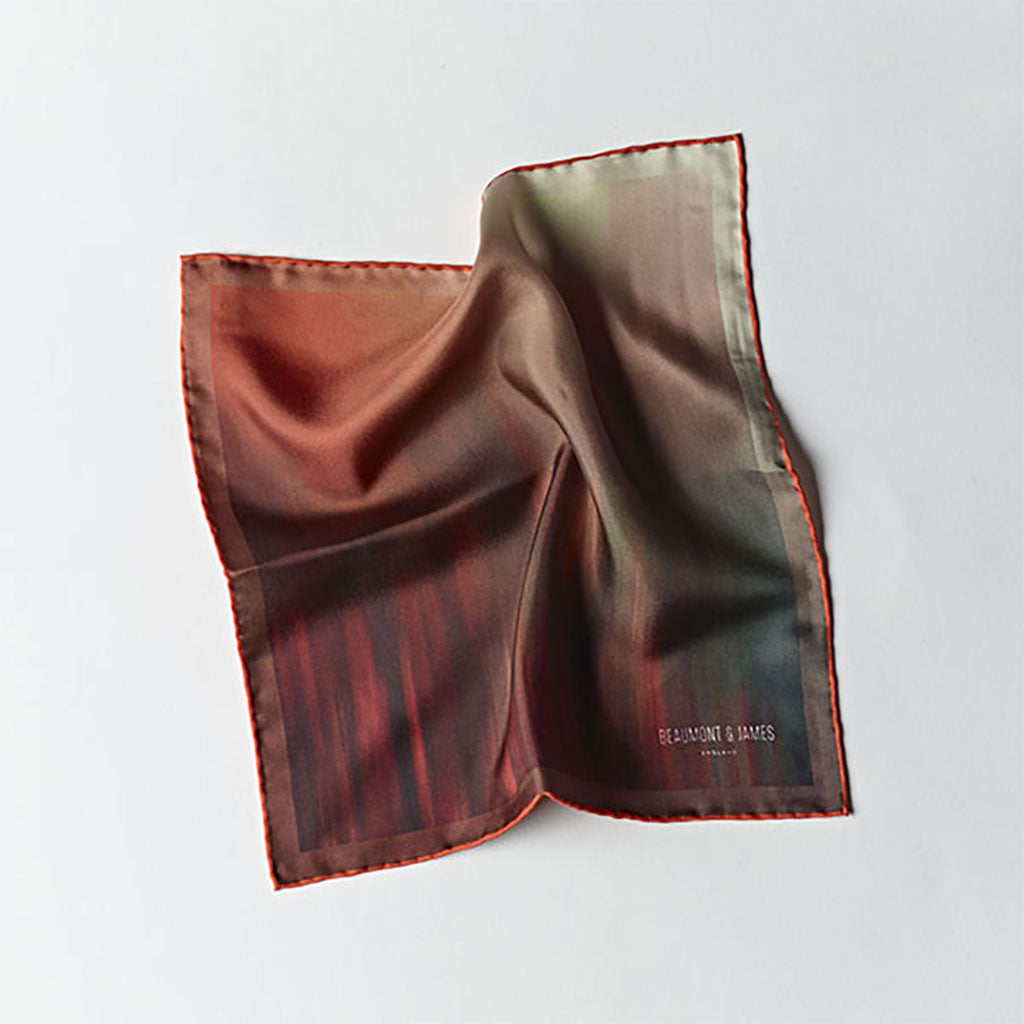 Red / Orange Pocket Square from The Mantique, Winchester