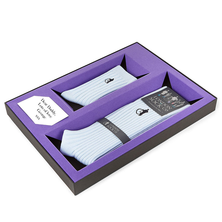 Skye Blue Socks Gift Set from The Mantique, Winchester