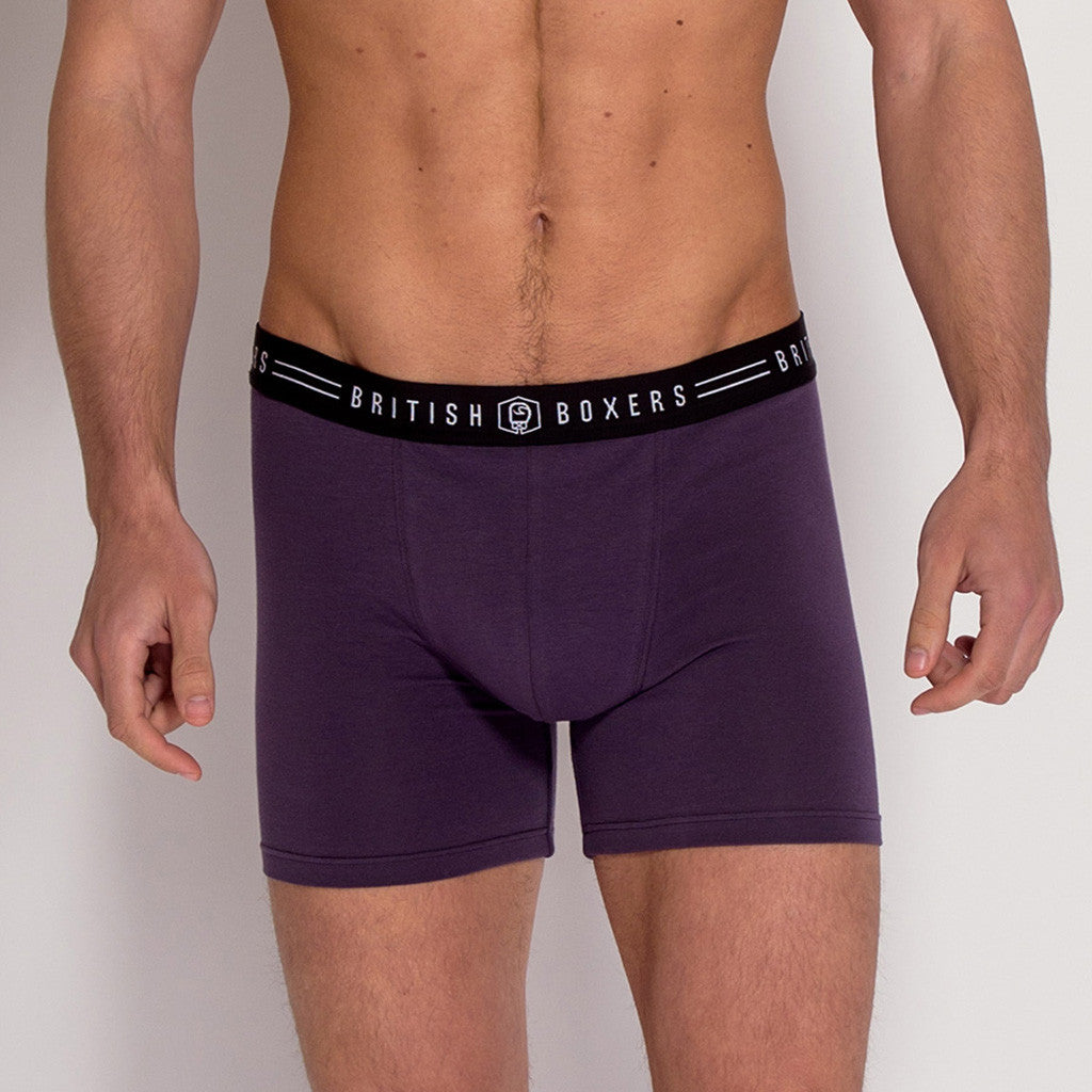 British Made Men's thistle cotton stretch trunks from British Boxers at The Mantique Winchester