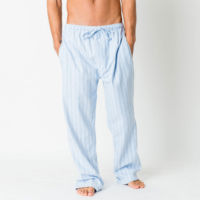 Blue Stripe Pyjama Trousers from The Mantique, Winchester