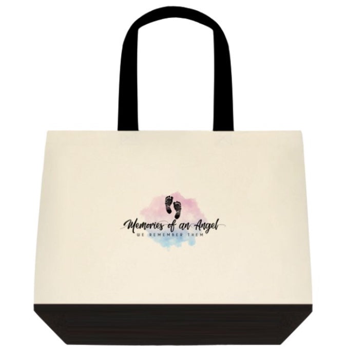 Two Tone Deluxe Cotton MOAA Logo Tote Bags