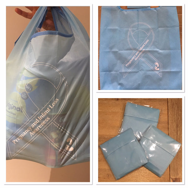 Pregnancy & Infant Loss Awareness Eco Friendly Foldable & Reusable Shopping Bags