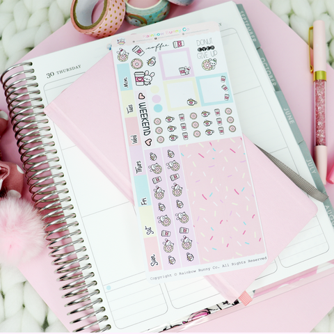 Donut Worry, Be Happy - Hobonichi Sticker Kit