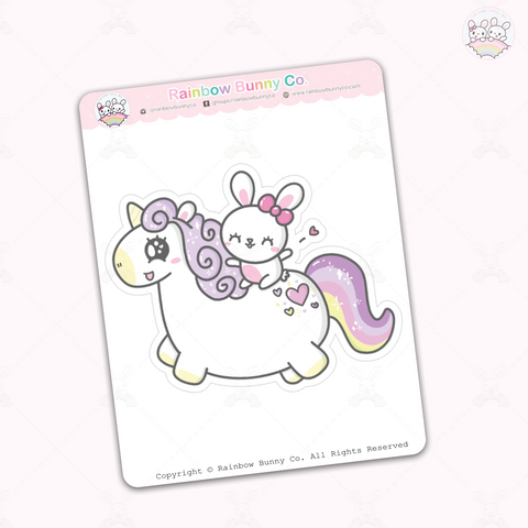Foo Foo Unicorn - Jumbo Sticker