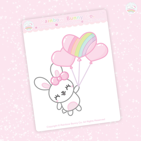 Foo Foo Heart Balloon  - Jumbo Sticker