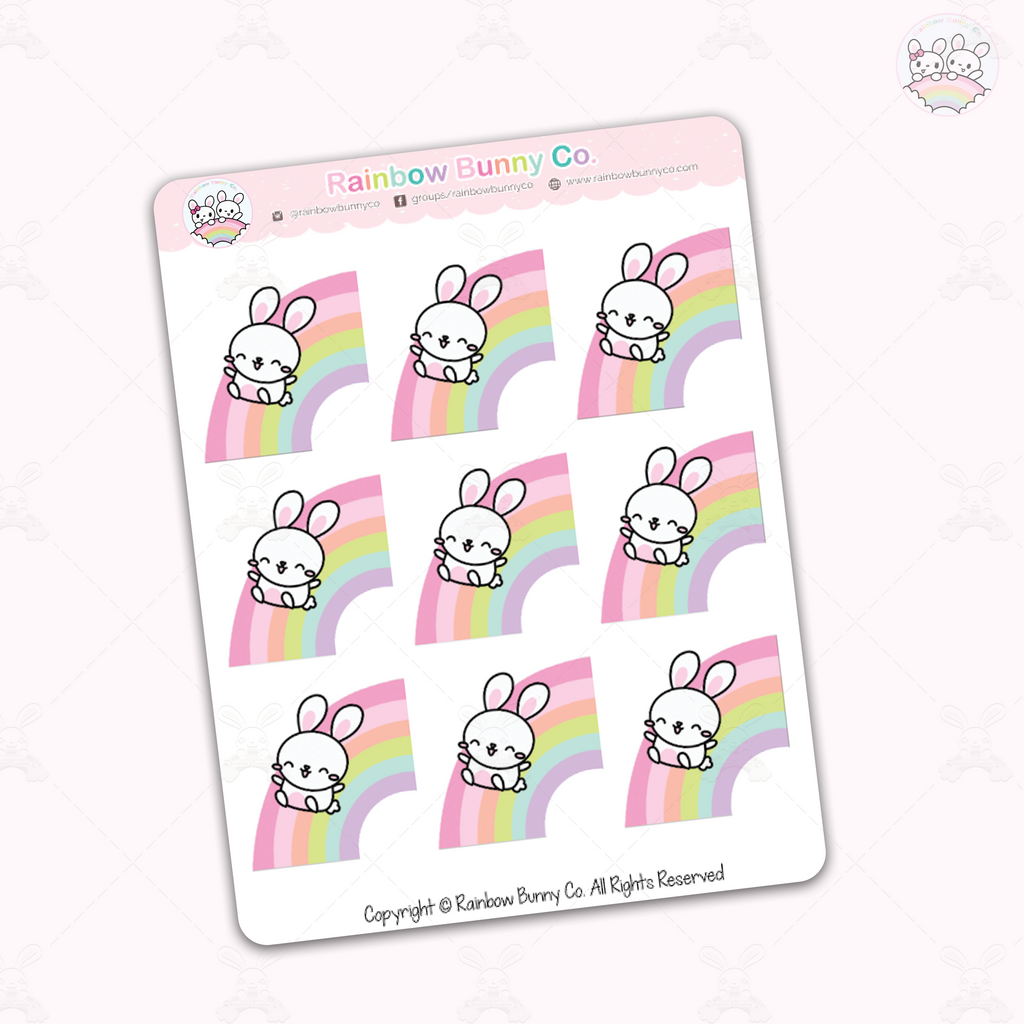 Binky Over the Rainbow Chonky Version - Sticker Sheet