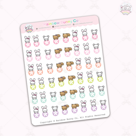 Colorful Reminder Dots - Chonky Version - Sticker Sheet