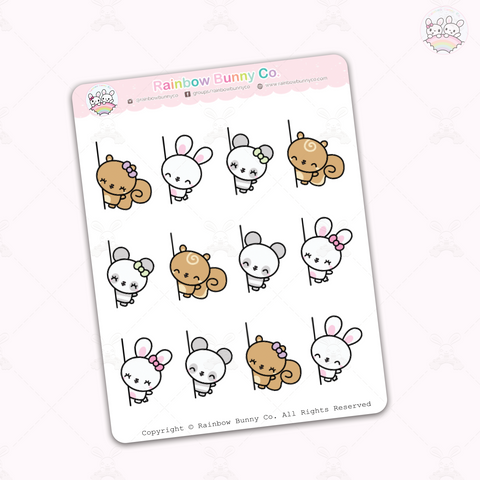 Side Peekaboo Binky & Friends - Sticker Sheet